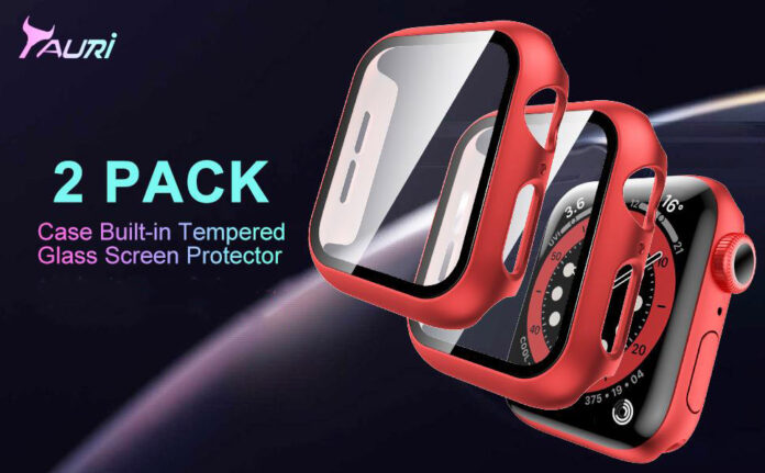 TAURI 2 Pack Hard Apple Watch Case