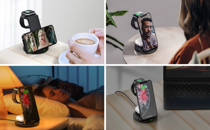 Earteana Upgraded 3 in 1 Charging Station