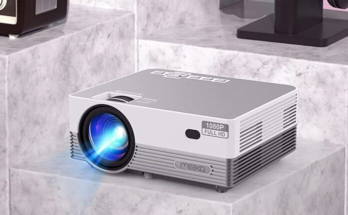 MOOKA Q6 Native 1080P WiFi Bluetooth Projector